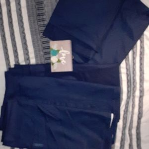 4 piece room essentials BLUE curtains